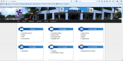 site do DETRAN PB